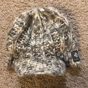 Billed Knit Columbia beanie, one size